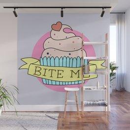 """""""BITE ME"""" CUPCAKE Wall Mural"""