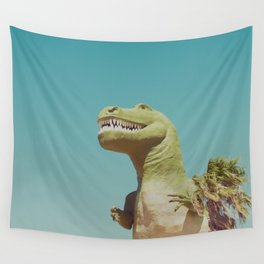 Dinosaur in Palm Springs Photography Wall Tapestry