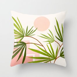 Summer in Belize Throw Pillow