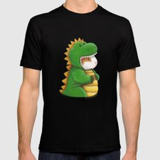 Guinea Pig in a Dinosaur Costume - Peegosaurus Rex MEDIUM Mens Fitted Tee Black