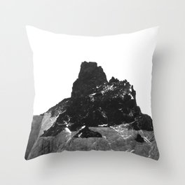 abstract black and white mountains photography | b&w patagonian nature landscape Throw Pillow