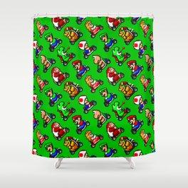 Super Mario Kart | greengrass | funny pattern Shower Curtain
