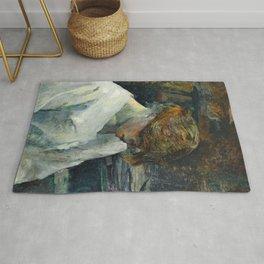 """Henri de Toulouse-Lautrec """"La Rousse in a White Blouse"""" Rug"""