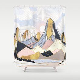 Summer Morning Shower Curtain