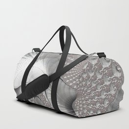 Almost Silver Fractal Art Duffle Bag