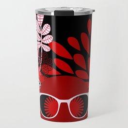 Afro Diva : Sophisticated Lady Red Travel Mug