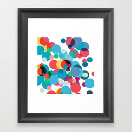 Dots and chaos Framed Art Print