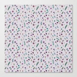 wild flowers pattern Canvas Print