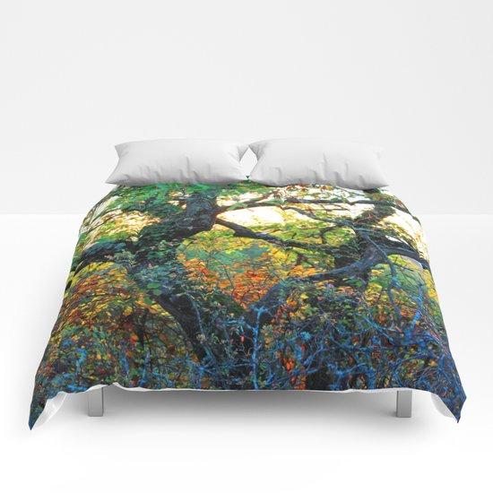 Autumn trees. Comforters