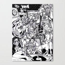 Wobble Wars (B&W) Canvas Print
