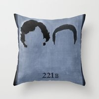 221b Throw Pillows featuring 221B by Minimalist Portraits