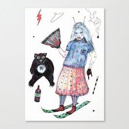 L'Eventail de Roberta Canvas Print