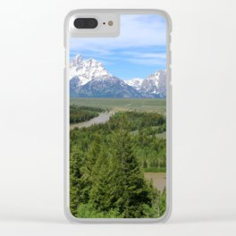 Snake River And The Grand Tetons Clear iPhone Case