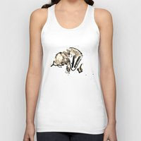 badger Tank Tops featuring Badger by Jen Moules