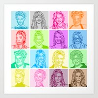 glee Art Prints featuring Glee by ONEX8