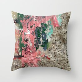 Wall Abstract 1 Throw Pillow