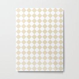 Diamonds - White and Pearl Brown Metal Print
