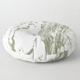 Green Marble (Cross Hatching Style) Floor Pillow