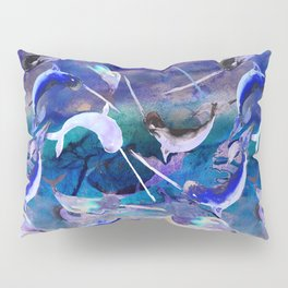 Ocean narwhal  Pillow Sham