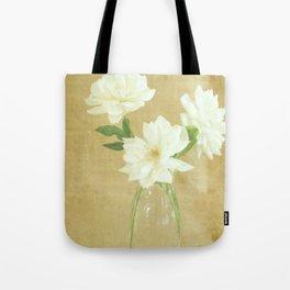Burlap and Roses Tote Bag