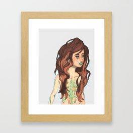 Mermaid Girl Framed Art Print