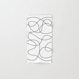 Minimal Black and White Abstract Line Hand & Bath Towel