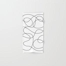 Minimal Black and White Abstract Line Hand & Bath Towel