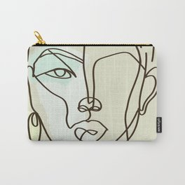 Strong Girl With Earring Carry-All Pouch