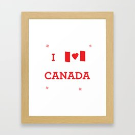 I heart Canada Framed Art Print