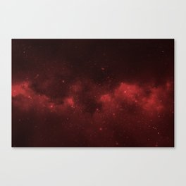 Fascinating view of the red cosmic sky Canvas Print