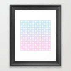 snow flakes serenity rose quartz Framed Art Print