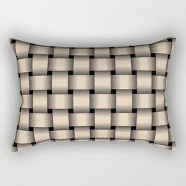 Bisque Brown Weave Rectangular Pillow
