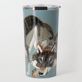 Totem Dark European Wolf Travel Mug