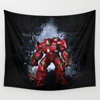 iron man Wall Tapestries featuring IRON MAN iron man by alifart