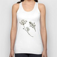 botanical Tank Tops featuring Dill Botanical by CHAR ODEN