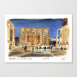 Lincoln Center at Night Canvas Print