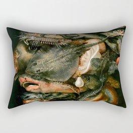 "Giuseppe Arcimboldo ""Four elements - Water"" Rectangular Pillow"