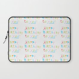 Happy birthday 1-Happy birthday, birthday,greeting,candle,birth date, anniversary Laptop Sleeve