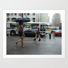 sidewalk 3 Art Print