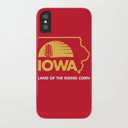 Iowa: Land of the Rising Corn - Red and Gold Edition iPhone Case