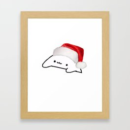 Bongo Cat Christmas Meme Framed Art Print