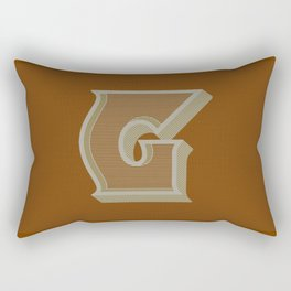 BOLD 'G' DROPCAP Rectangular Pillow