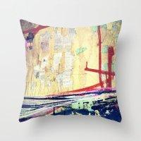 graffiti Throw Pillows featuring Graffiti  by Danielle DePalma