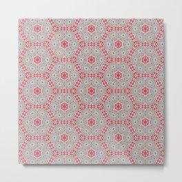 V28 Moroccan Pattern Design. Metal Print