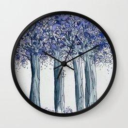 Jacarandas Wall Clock