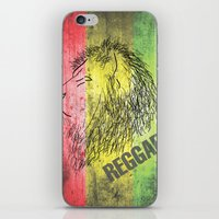 reggae iPhone & iPod Skins featuring Reggae Lions by Teo Designs