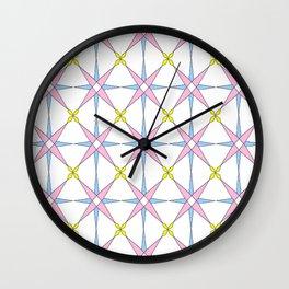 symetric patterns 45 -mandala,geometric,rosace,harmony,star,symmetry Wall Clock