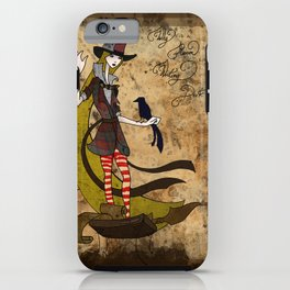 Mad Alice: Why is a Raven like a Writing Desk? iPhone Case