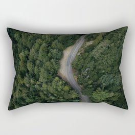 NATURE - PHOTOGRAPHY - FOREST - HIGHWAY - ROAD - TRIP - TREES Rectangular Pillow