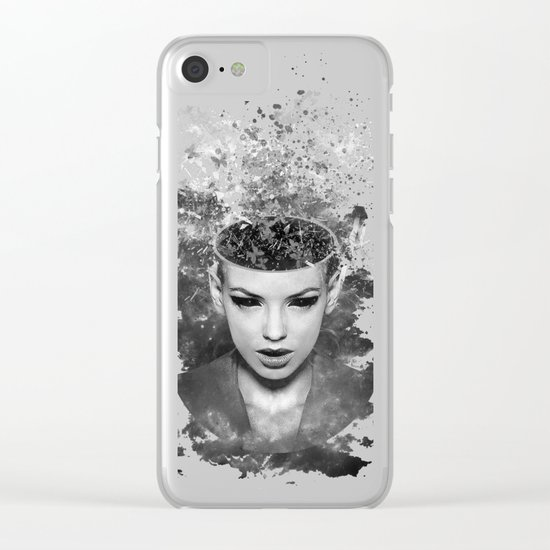 I walk alone to find the way home Clear iPhone Case